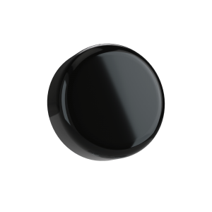 Cannaline's 9ML child resistant glossy black push and turn lid