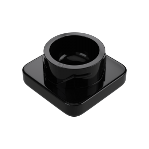 9ml square black glass concentrate jars