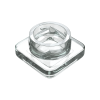 9ml square clear glass concentrate jars