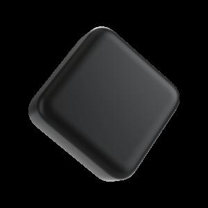 9ML square child resistant matte black push and turn lid
