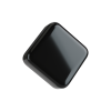 5 ML square child resistant glossy black push and turn lid