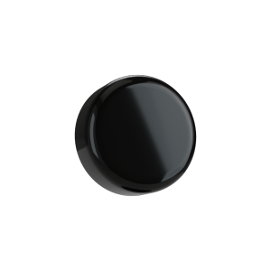 Cannaline's 5 ML child resistant glossy black push and turn lid