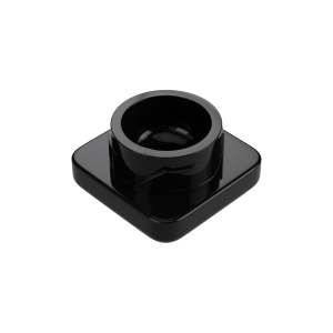 5ml square black glass concentrate jars