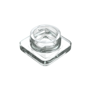 5ml square clear glass concentrate jars