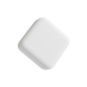 Square Matte White Child Resistant Push & Turn lid for 5ML glass concentrate container