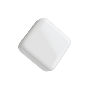 Square Glossy White Child Resistant Push & Turn lid for 5ML glass concentrate container