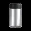 Clear 5 oz child resistant glass jar with matte black lid