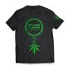 Mission Green x Cannaline Black T-Shirt | Front